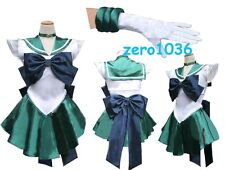 Anime Sailor Moon Sailormoon Neptune Cosplay Costume with Gloves
