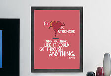 """Beyonce Inspirational Quote Poster Print Illustration Wall Art """"The Heart"""""""
