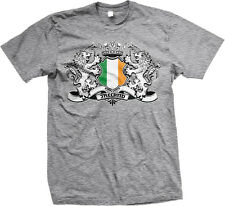 Ireland Coat of Arms Lions Irish Pride Rugby Soccer Football Eire Mens T-shirt