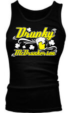 Drunky McDrunkerson Drinking Beer Mug Funny College Party Boy Beater Tank Top