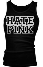 Hate Pink Funny Parody Satire Think Humor Social Commentary Boy Beater Tank Top