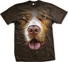 Pit Bull Dog Canine Pet Animal 3D Realistic FREE SHIPPING New Mens T-shirt