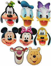 DISNEY CHARACTERS - CARD FACE MASKS - 8 TO CHOOSE + MULTIPACK - LICENSED PRODUCT