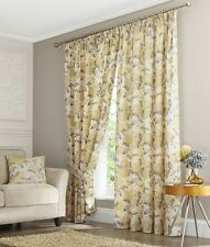 ELLESMERE Buttercup Pencil Pleat Fully Lined Pair Tape Top Ready Made Curtains