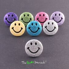 FUNKY BOYS MENS SMILEY STUD EARRING SINGLE GLITTER QUIRKY HAPPY RETRO GIFT PUNK