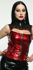 LIP SERVICE PATENT VINYL CLASSICS TOTALLY FETTERED HIGH NECK TOP