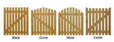 3FT WOODEN PICKET GATE - 900MM X 900MM - CHOOSE STYLE - PRESSURE TREATED