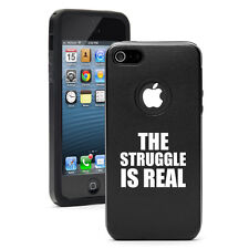 For Apple iPhone 4 4S 5 5S 5c Aluminum Silicone Case Cover The Struggle Is Real