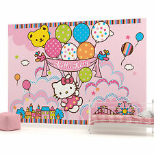 Hello Kitty with Baloons Photo Wallpaper Wall Mural (CN-451VE)