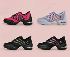 Lady's Lace Up Sneakers Running Sport Dancewear Jazz Hip Hop Dance Shoes 4 Color