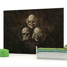 Three Skulls Photo Wallpaper Wall Mural (CN-978VE)