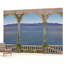 Sea View from Terrace Photo Wallpaper Wall Mural (CN-1030VE)
