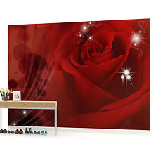 Red Rose Sparkles Photo Wallpaper Wall Mural (CN-8-010P)
