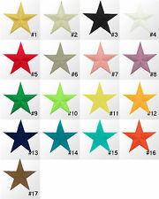 #354IR Large Star Nautical Embroidered Sew Iron On Motif Patch Applique 3.5 inch