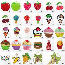 #394IR Fruit Sweet Dessert Food Embroidered Sew Iron on Motif Patch Applique