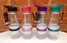 BRAND NEW Diamante Sports Non-Spill Bling Water Bottle  700 ML  FREE P&P