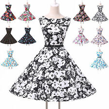 Stock Womens Pastral Stlye Vintage Rockabilly Pinup Housewife Evening Ball Dress