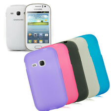 Glossy Frosted Soft TPU GEL Case Cover for Samsung Galaxy Young S6310, S6312