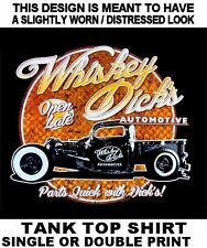 WHISKEY DICK'S AUTO PARTS HOT RAT STREET ROD TRUCK CAR SKULL TANK TOP SHIRT W132