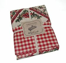 April Cornell Christmas Holly 100% Cotton Tablecloth NEW NWT
