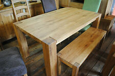 100% Olied Forest Solid Oak Rustic Dining Table