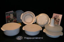 Tupperware ALMOND microwave Stack Cooker Casserole Parts ~YOU CHOOSE Size