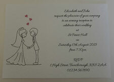 10 Personalised Wedding Invitations *2 Designs to Choose from* *FREE POSTAGE*