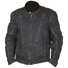 New Denim Motorcycle Bike Jacket Protection Removable Lining Mens Sz M L XL XXL