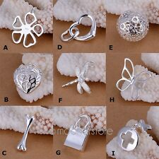 Wholesale Fashion jewelry Lady /Women solid 925 Sterling Silver Pendant Necklace