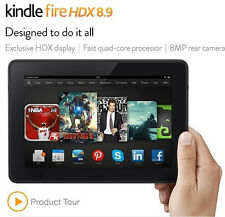 "LikeNew Refurbished Kindle Fire HDX 8.9"", 16 32 64 GB, WiFi or 4G + 1Yr WARRANTY"