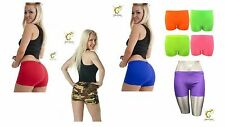 Womens Ladies Girls Stretchy Hot Pants Various Neon Colours Dance Yoga Gym