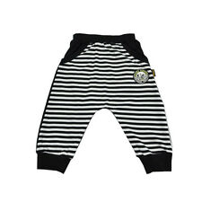 Kids Boys Jogging Sports Pants Striped Casual Cropped Fashion Trousers Sz 4-14