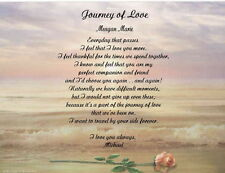 Personalized Love Poem Birthday, Anniversary or Christmas Gift Journey of Love