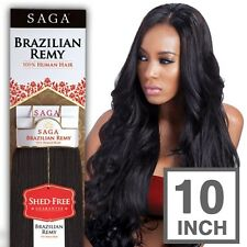 100% Milky Way Saga Brazilian Remy Human Hair Weave Yaky Straight (10 Inch)