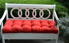 Solid Red Tufted Cushion for Bench ~ Swing ~ Glider - Choose Size
