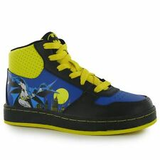 Batman Kids Children Hi Tops Lace Up Panelled Design Footwear Shoes Trainers