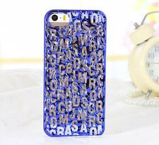 2014 New style Marc By Marc Jacobs Tin foil letter CASE cover for iphone 5 5s 5G