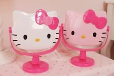 New 1pcs Hello Kitty Stand Cosmetic Mirror Make Up Mirror Pink White Optional