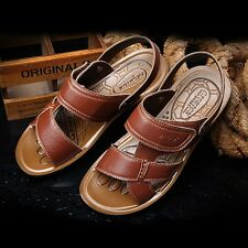Cowhide leather slippers casual slippers drag leather sandals male men's sandals