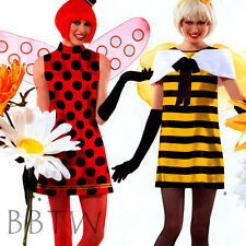 Simplicity PATTERN 2324 CUTE bumble bee lady bug Native American Tribal costume