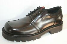 DOCKERS Men's Low Leather Boots Smart Casual Lace Shoes Black UK 6.5-12 New