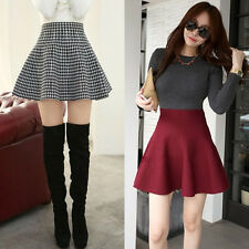 winter thick wool knit dress bust skirt bottoming bag big swing pleated flounced
