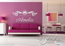 Personalised Any Name Wall Art Sticker Princess design kids child bedroom