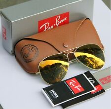 Geunine Ray Ban Aviator RB3025 W3276 all size Gold Frame Gold Mirror Unisex