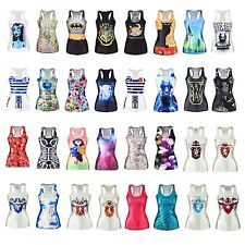 3D Graphic Print Singlet Prank House Cartoon Movie Funny Punk Rock Fit Cami Top