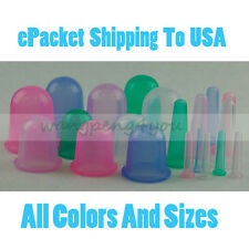 SILICONE MASSAGE VACUUM BODY FACIAL CUPPING Therapy SET ANTI CELLULITE HOME USE