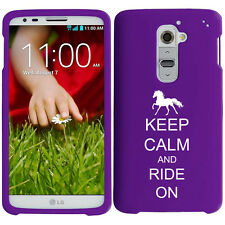 For LG G2 G3 Snap On 2 Piece Rubber Hard Case Cover Keep Calm and Ride On Horse