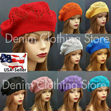 Women Summer Spring Winter  Crochet Knit Slouchy Beanie Beret Cap Hat One Size