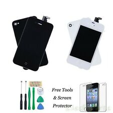 Front Housing LCD Screen Touch Digitizer Assembly Back Cover for iPhone 4 4G 4S