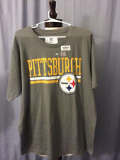 NFL PITTSBURGH STEELERS Team Logo Gray T-shirt  by:NFL Team Apparel
